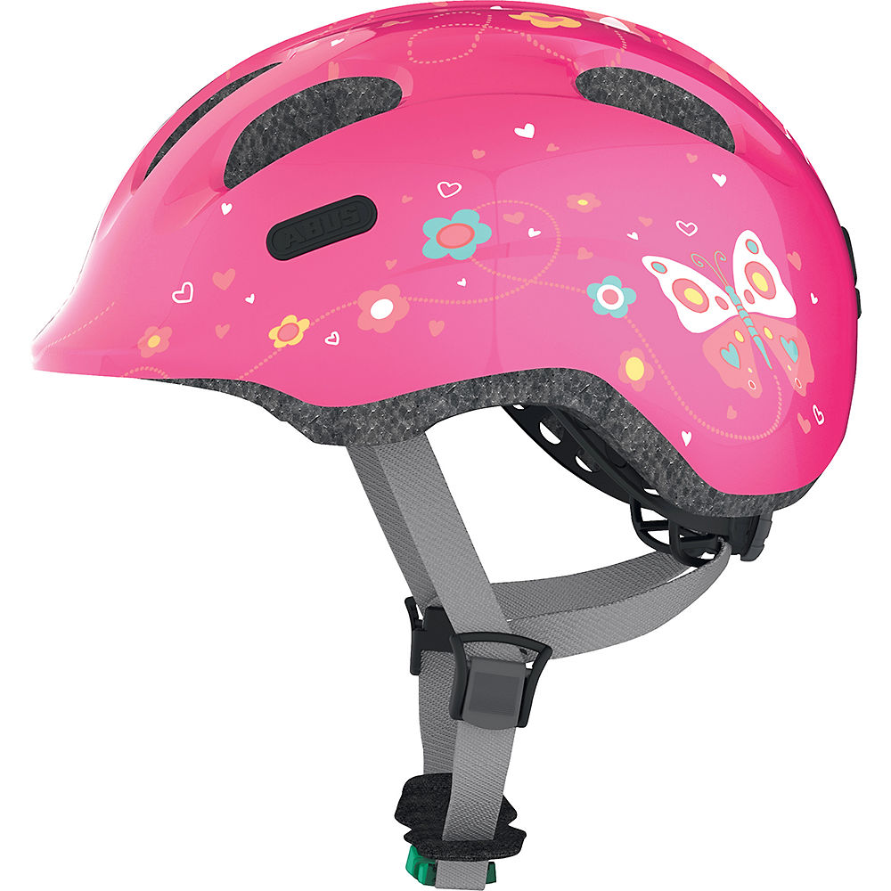 Abus Kid's Smiley 2.0 Cycling Helmet 2021 - Pink Butterfly, Pink Butterfly