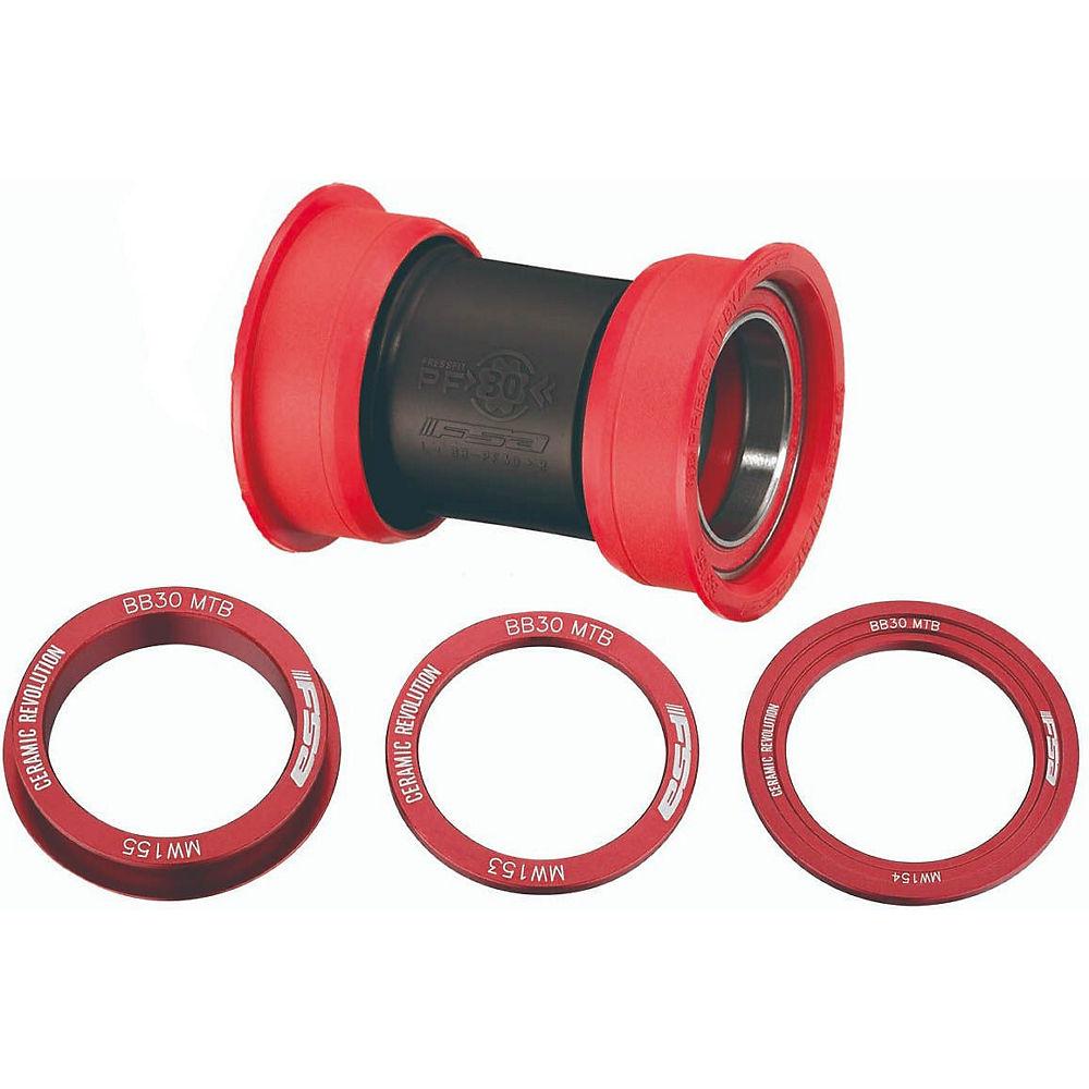 Fsa Pf30 Mtb Ceramic Bottom Bracket - Red - Bb-pf9200-al  Red