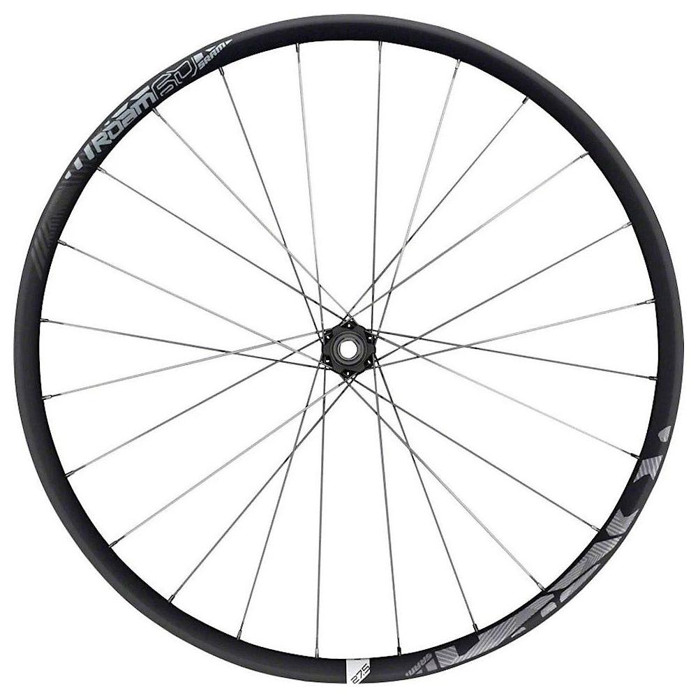 Sram Roam 60 Carbon Convertible Front Wheel - Black-white - 27.5 (650b)  Black-white