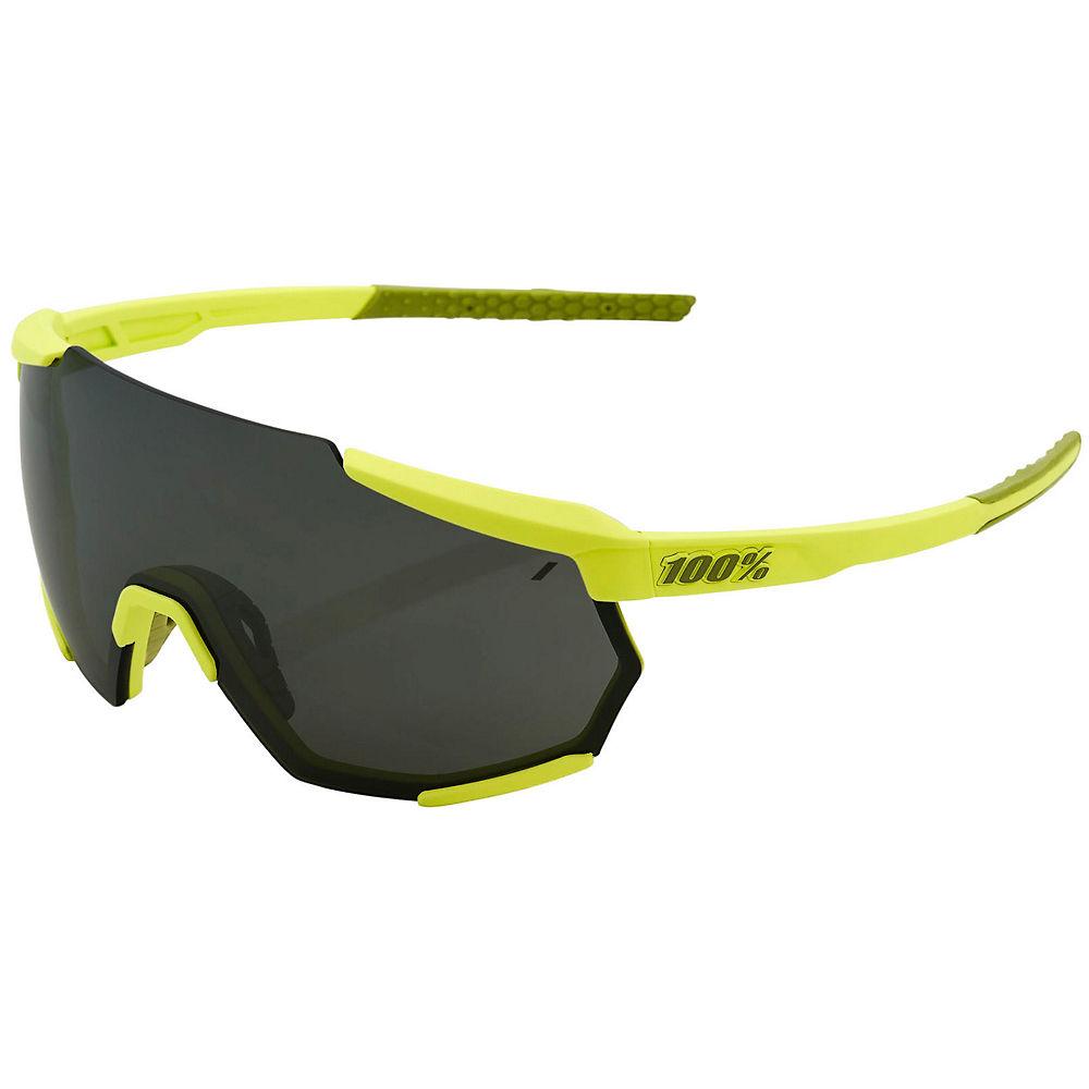 100% Racetrap Soft Tact Banana Sunglasses - Black Mirror Lens, Black Mirror Lens