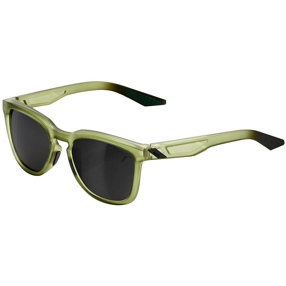 100% Hudson Matte Olive Slate Sunglasses - Black Mirror Lens, Black Mirror Lens