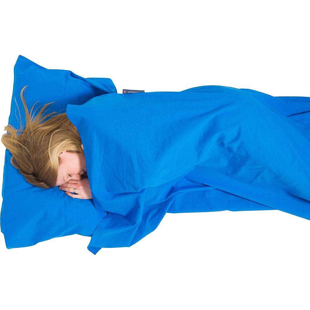 Lifeventure Cotton Sleeping Bag Liner Anti-Bac Mummy - Blue, Blue