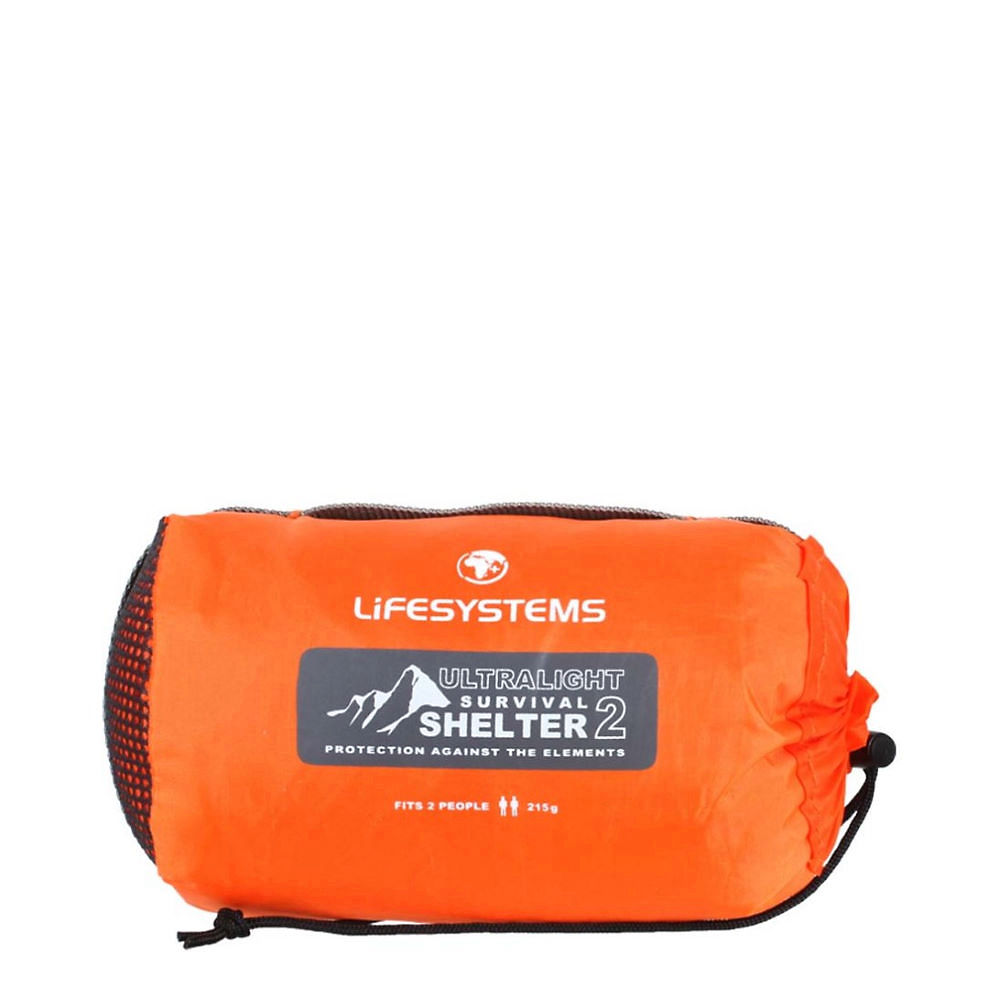 Image of Lifesystems Ultralight Survival Shelter - 2 Person SS21 - Orange, Orange