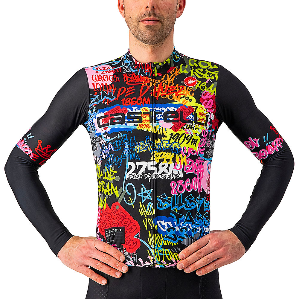 Castelli Graffiti Cycling Armwarmer SS21 - Explosion - XL, Explosion