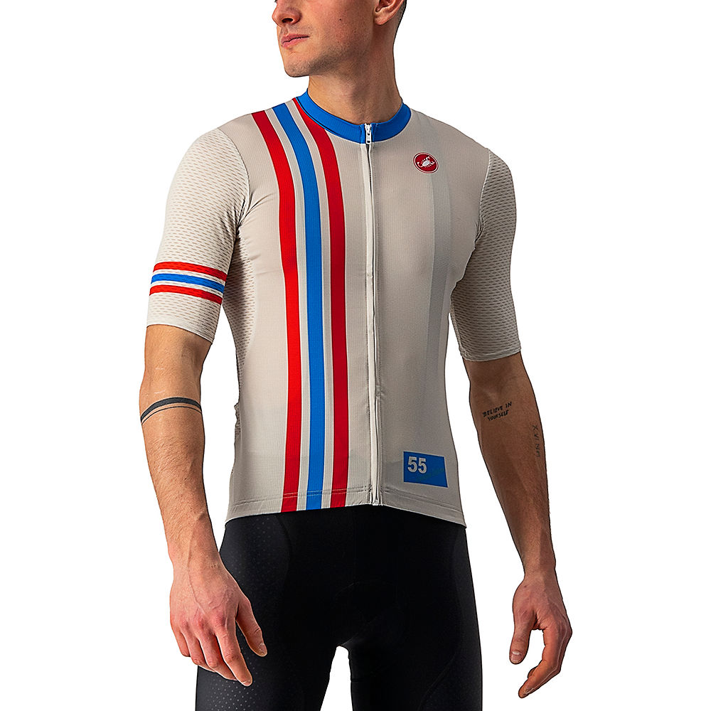 Castelli Hollywood Competizione Cycling Jersey Ss21 - Cannonball Off White - Xl  Cannonball Off White