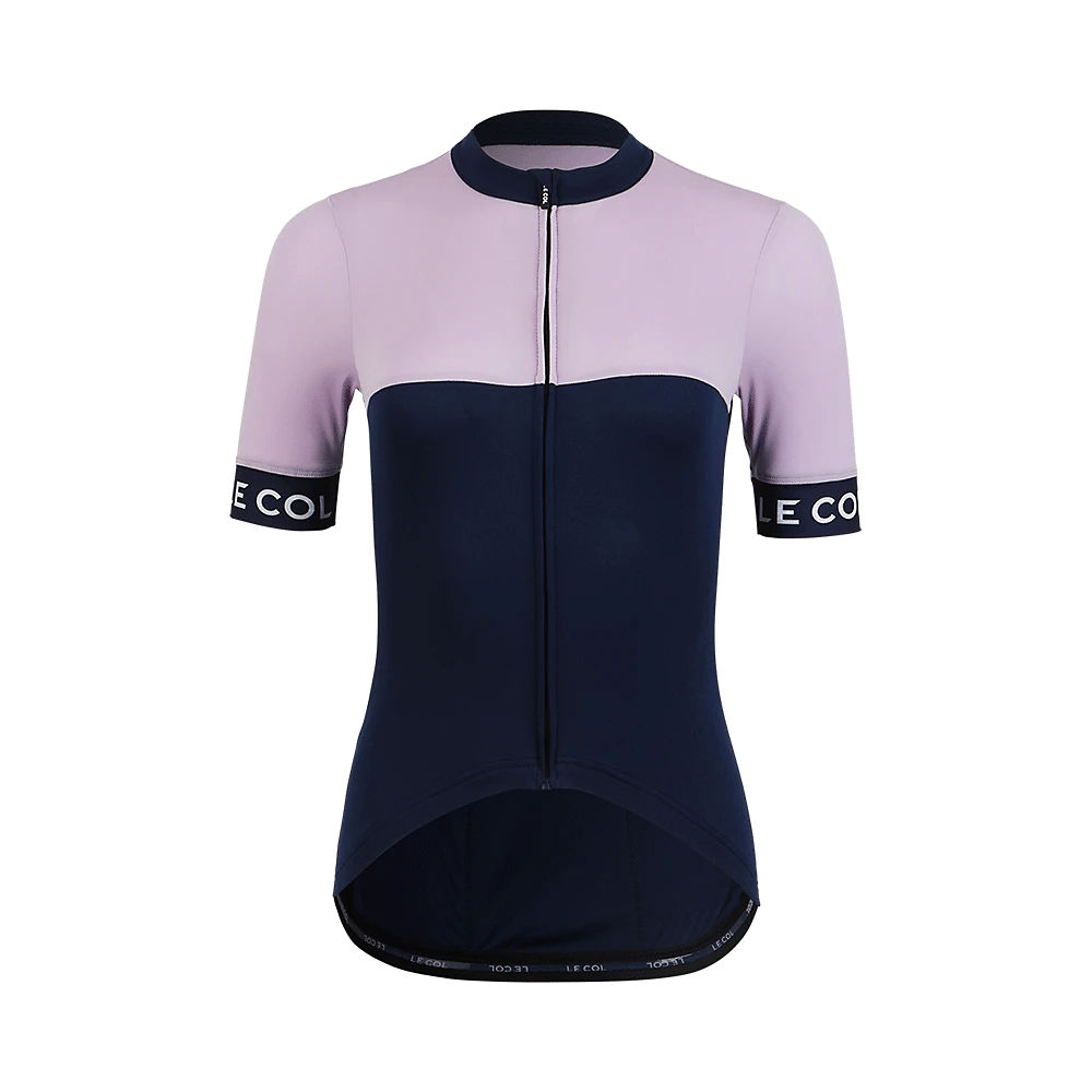 Le Col Womens Sport Cycling Jersey Ii Ss21 - Navy-lilac  Navy-lilac