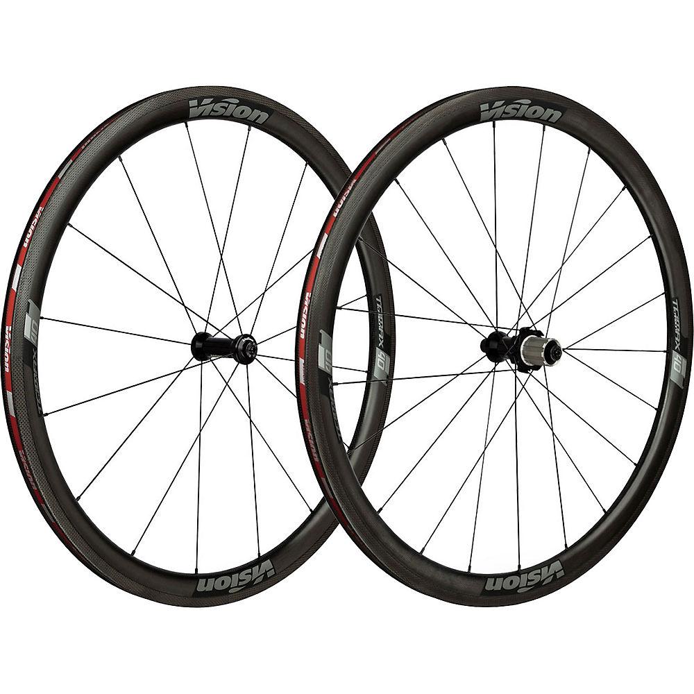 Vision TriMax Carbon 40 Tubular Wheelset - Grey - 700c, Grey