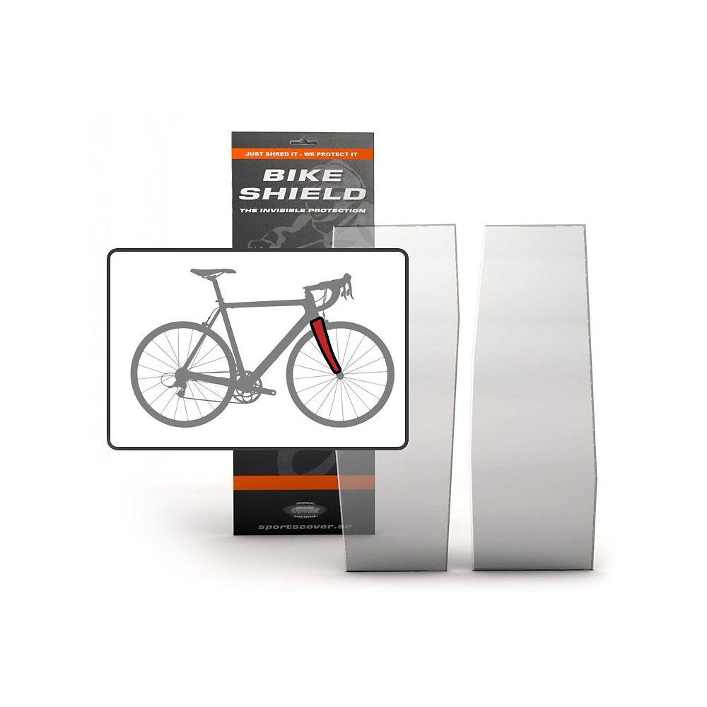 Bike Shield Fork Shield Protection Set - Clear - 2 Piece Set, Clear