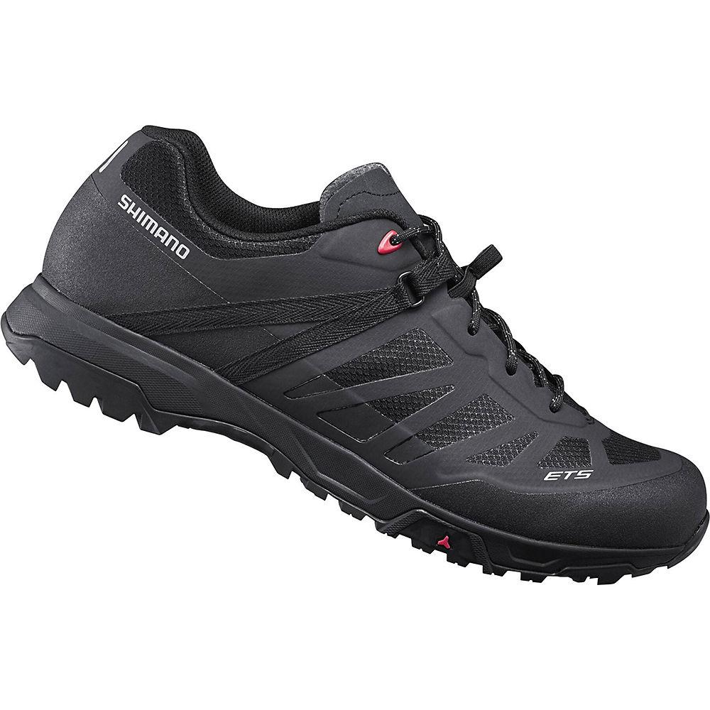 Shimano ET500 flat Pedal Cycling Shoes 2021 - Black - EU 45.3, Black
