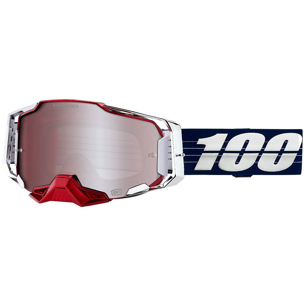 100% Armega MTB Goggles Ltd Bruni  - Hiper Silver, Hiper Silver
