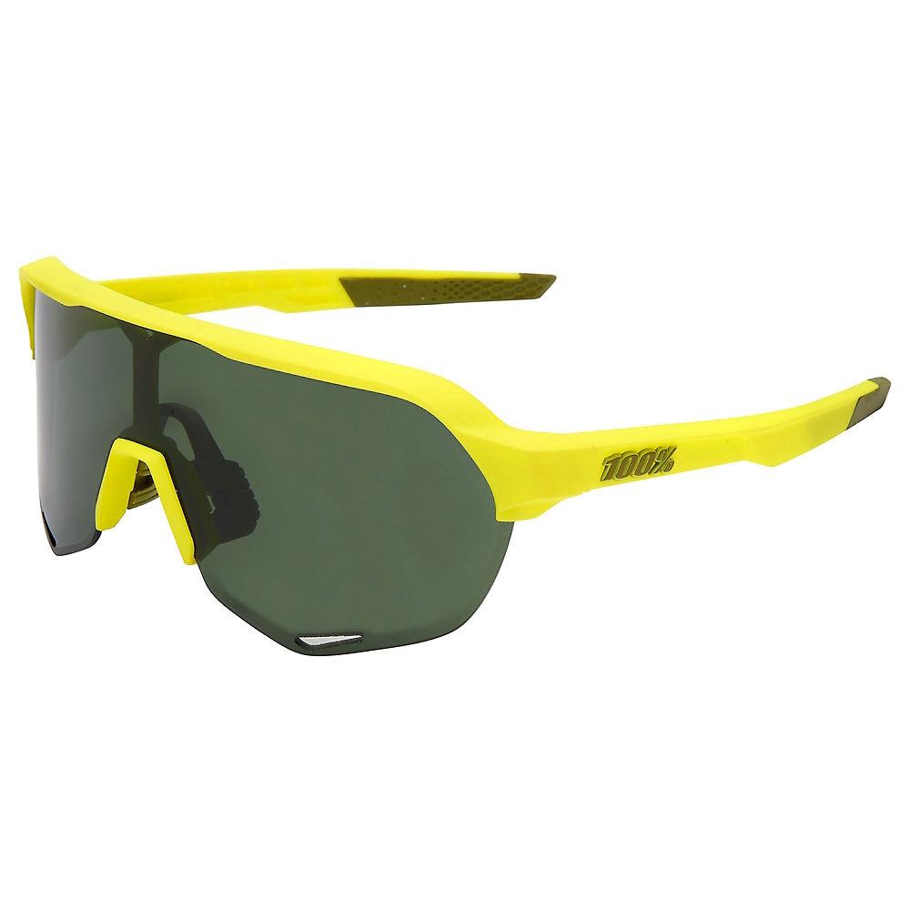 100% S2 Soft Tact Banana Sunglasses - Grey Green Lens, Grey Green Lens