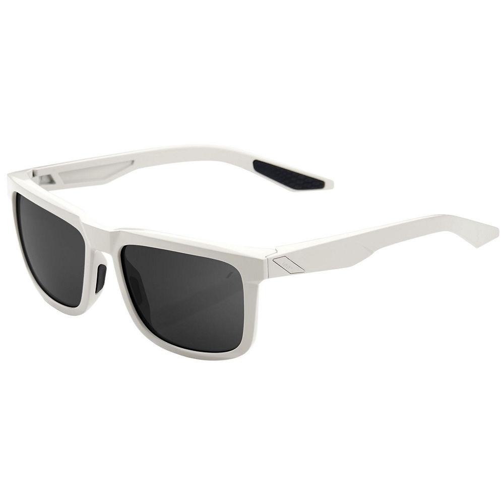 100% Blake Polished Haze Sunglasses - Smoke Lens, Smoke Lens