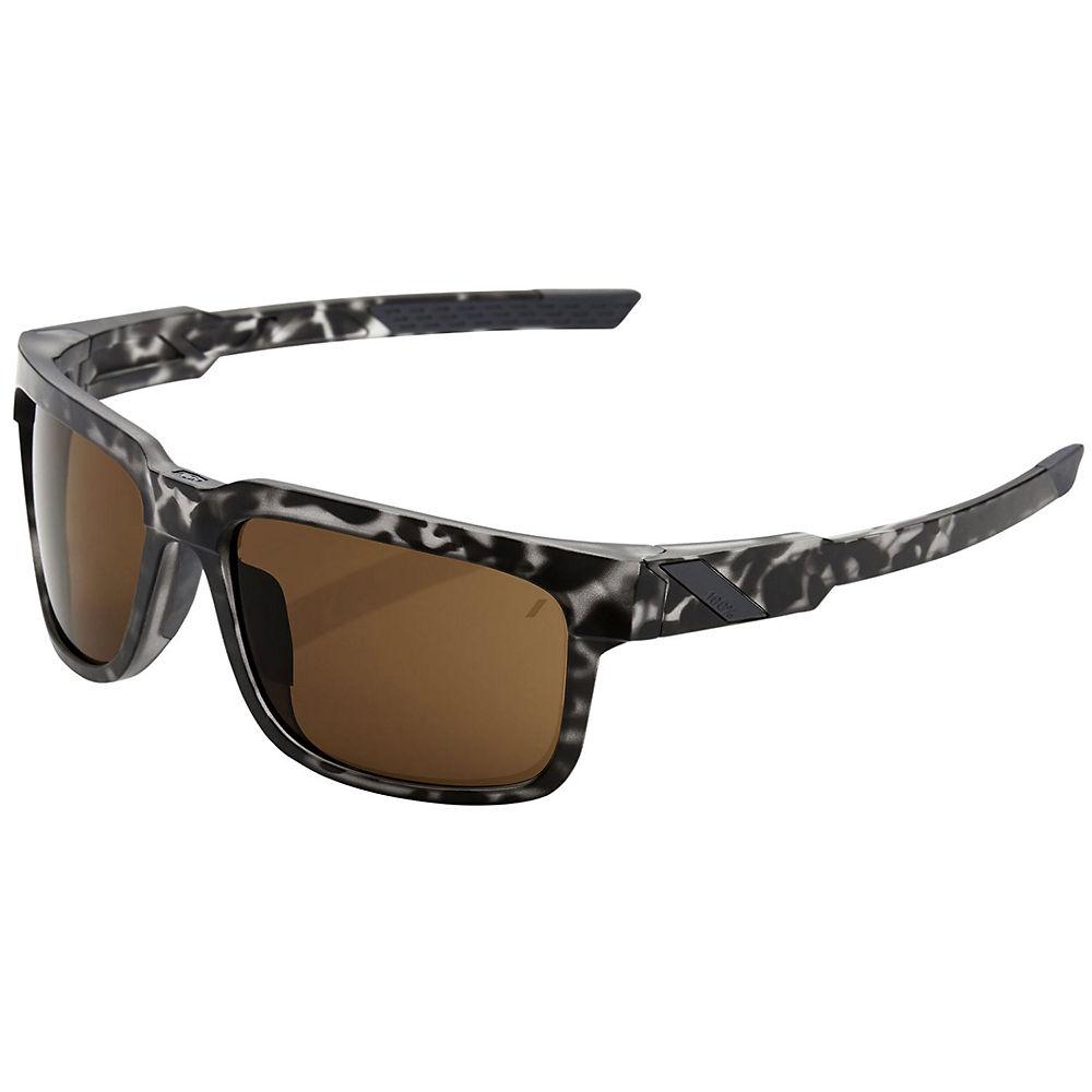 100% Type S Matte Black Sunglasses - Bronze Lens, Bronze Lens