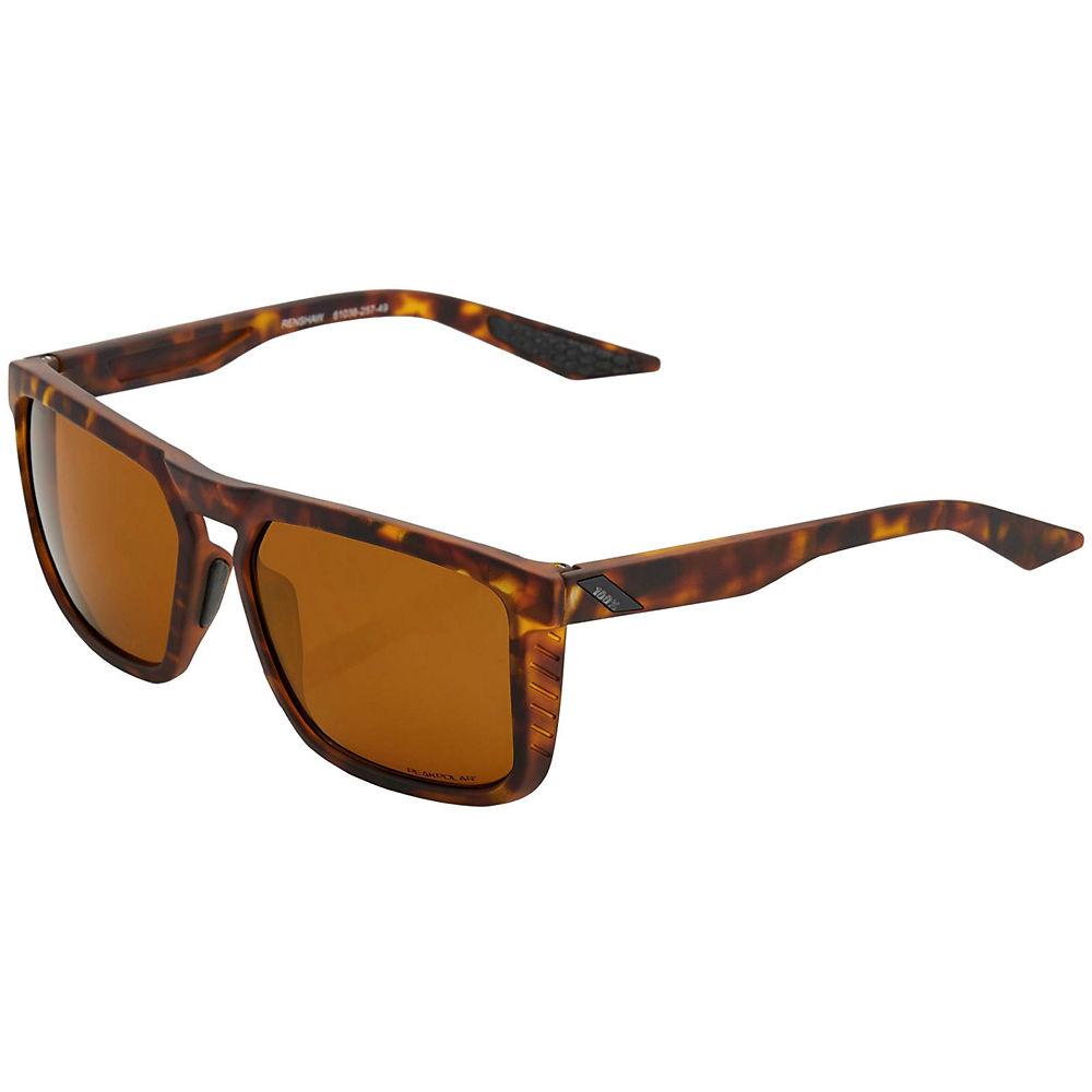 100% Renshaw Soft Tact Havana Sunglasses - Bronze Peakpolar Lens, Bronze Peakpolar Lens