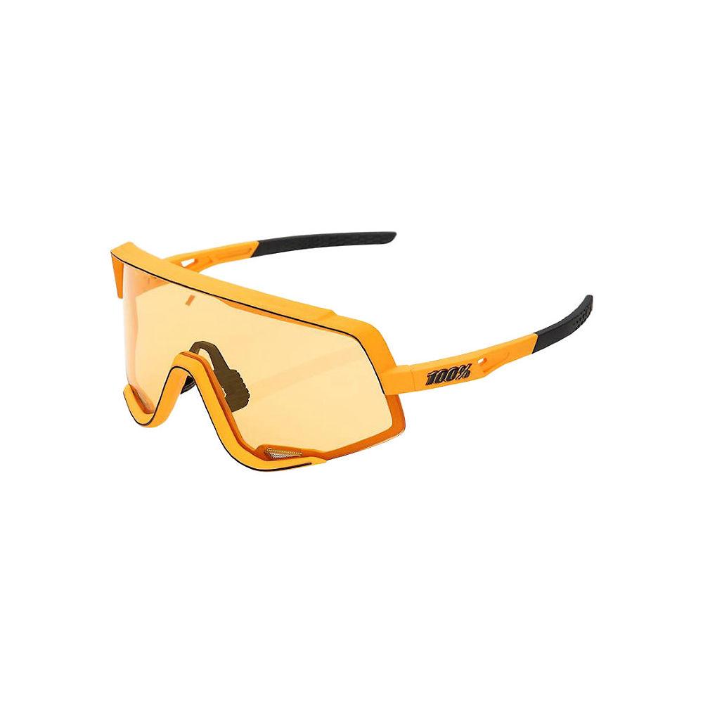 100% Glendale Soft Tact Mustard Sunglasses - Yellow Lens, Yellow Lens