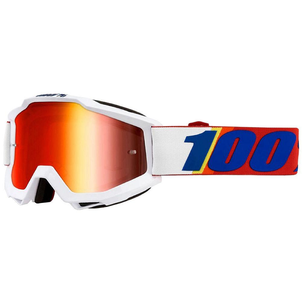 100% Accuri Goggle Mirror Lens - white-cobalt logo, white-cobalt logo