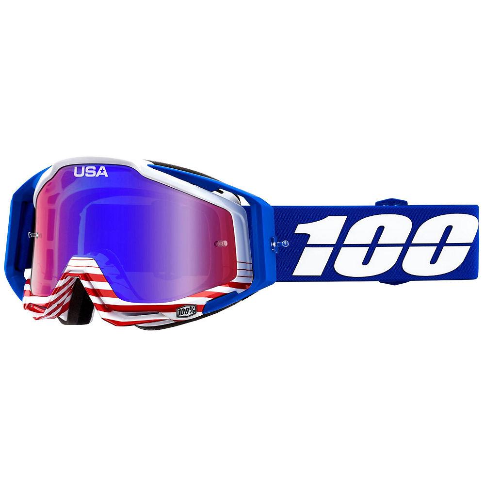 100% Racecraft Anthem Mirror Lens - USA flag, USA flag