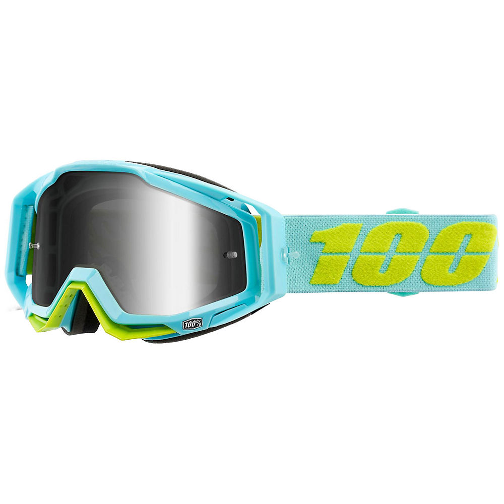 100% Racecraft Goggle Silver Mirror Lens - Turquoise, Turquoise