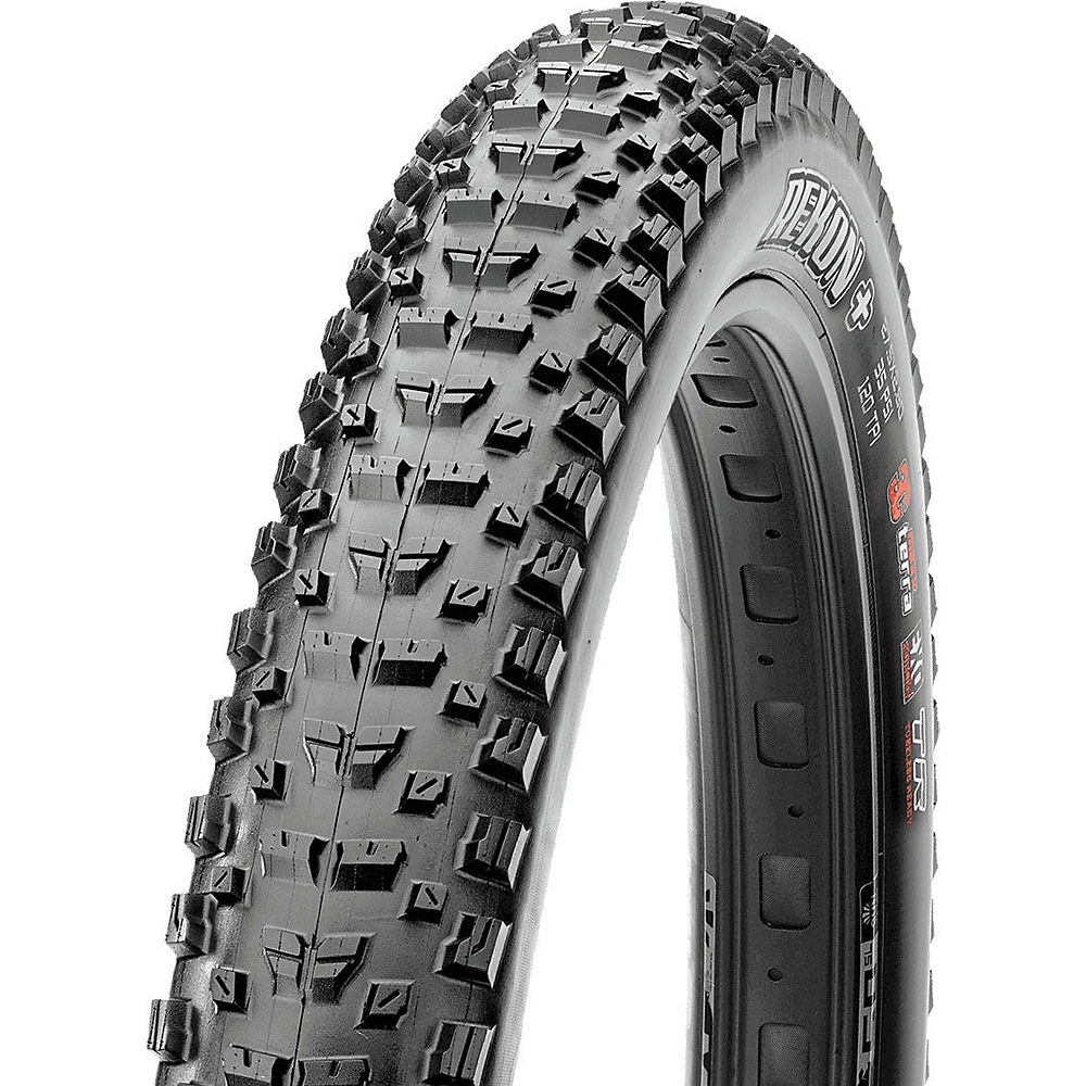 Maxxis Rekon Plus TLR MTB Tyre - Black - Folding, Black