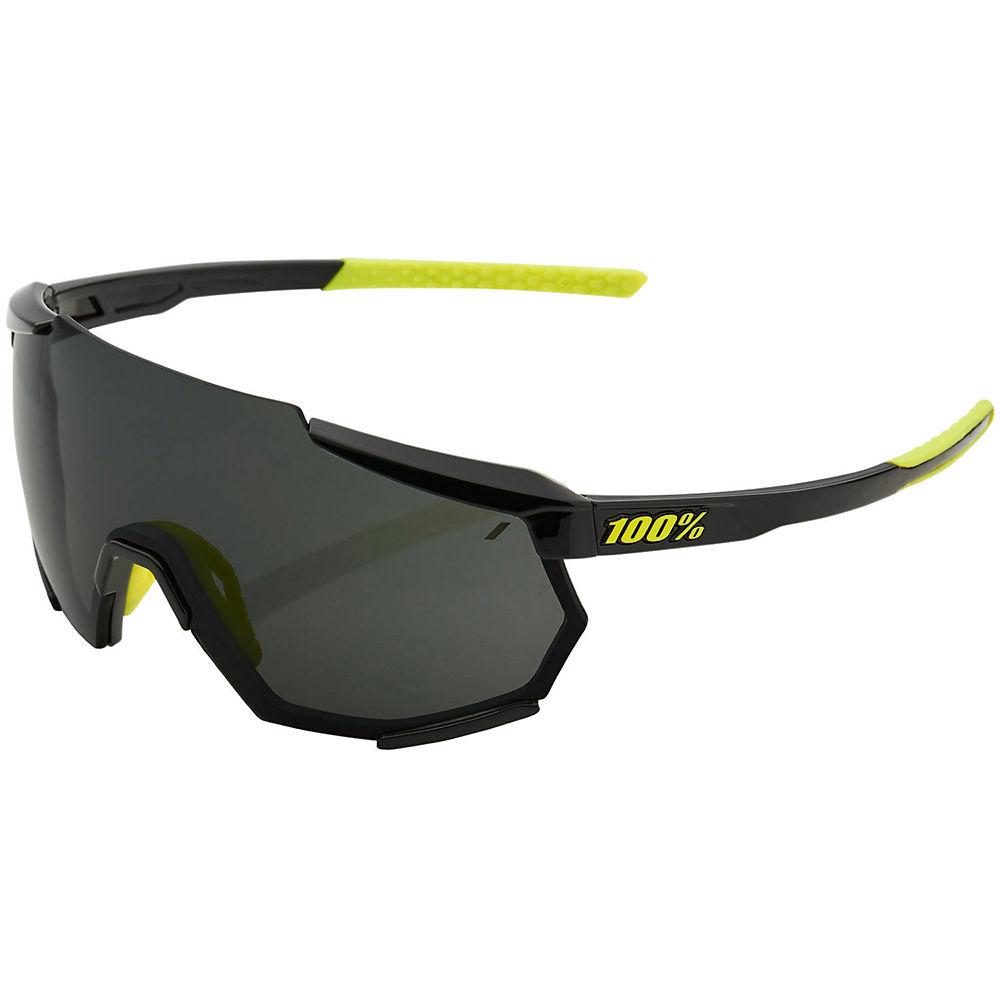 100% Racetrap Gloss Black Sunglasses, Black