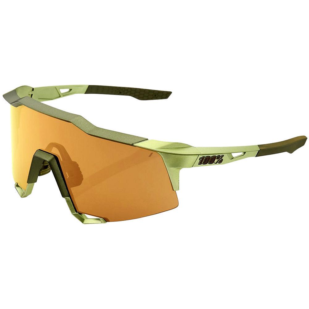 100% Speedcraft Matte Mirror Sunglasses - Gold, Gold