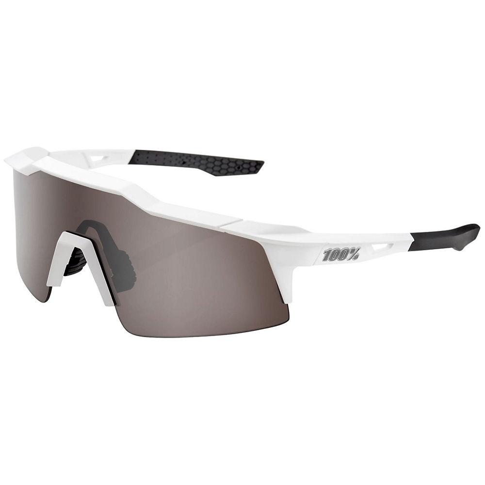 100% Speedcraft SL Matte Mirror Sunglasses - White, White