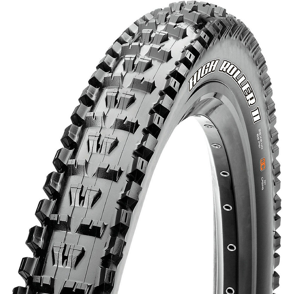 Maxxis High Roller II DD TLR MTB Tyre - Black - Folding, Black