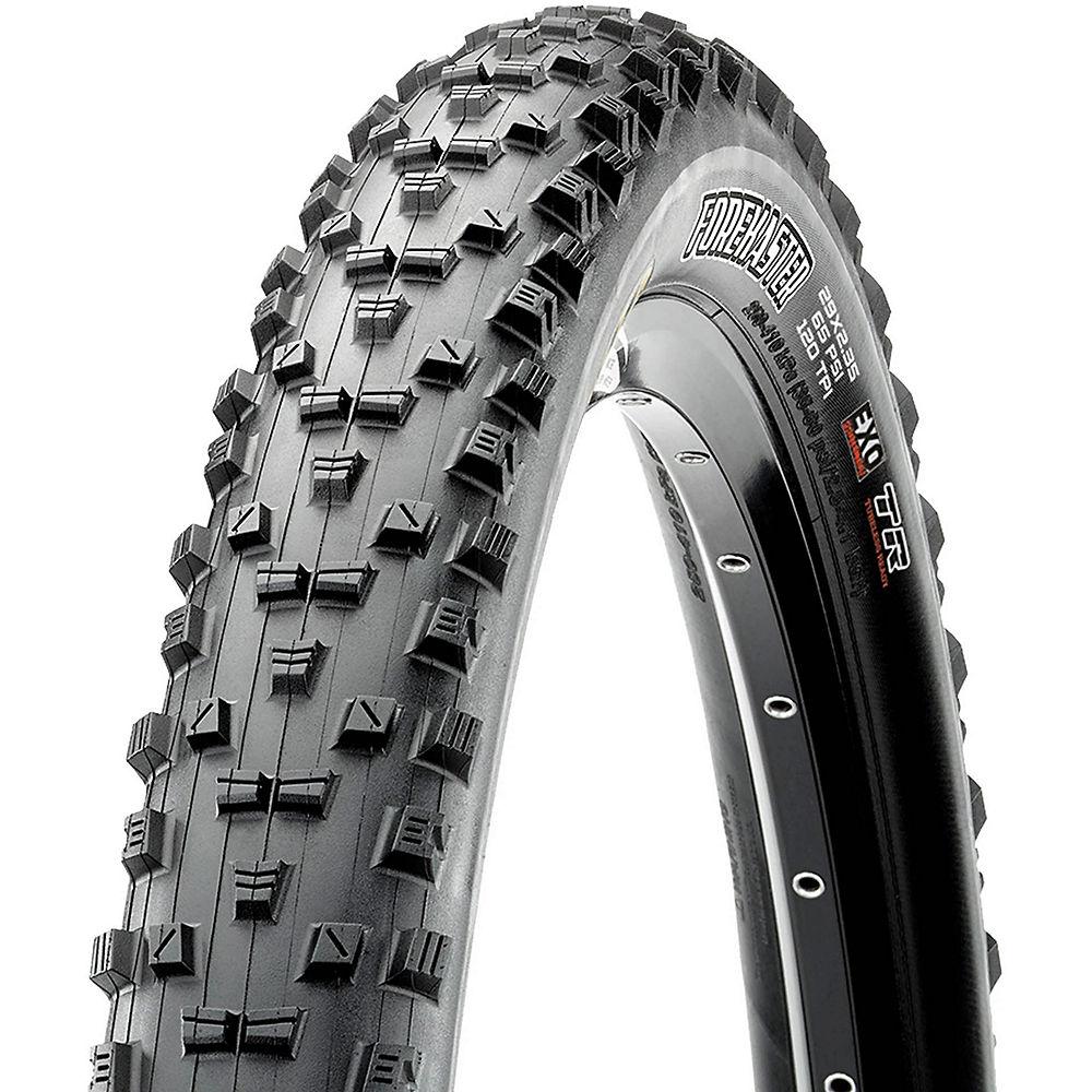 Maxxis Forekaster Plus EXO 3C TLR MTB Tyre - Black - Folding, Black
