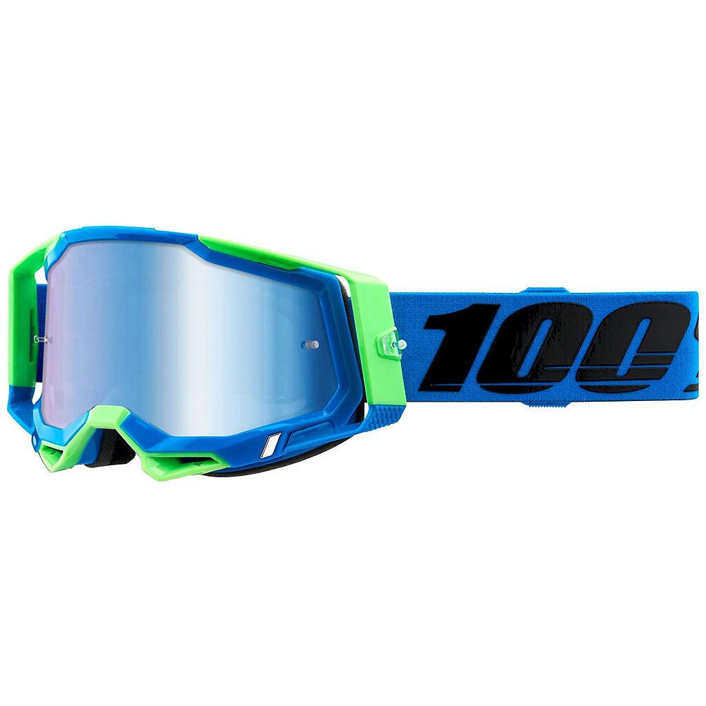 100% Racecraft 2 MTB Goggles - Blue Green, Blue Green