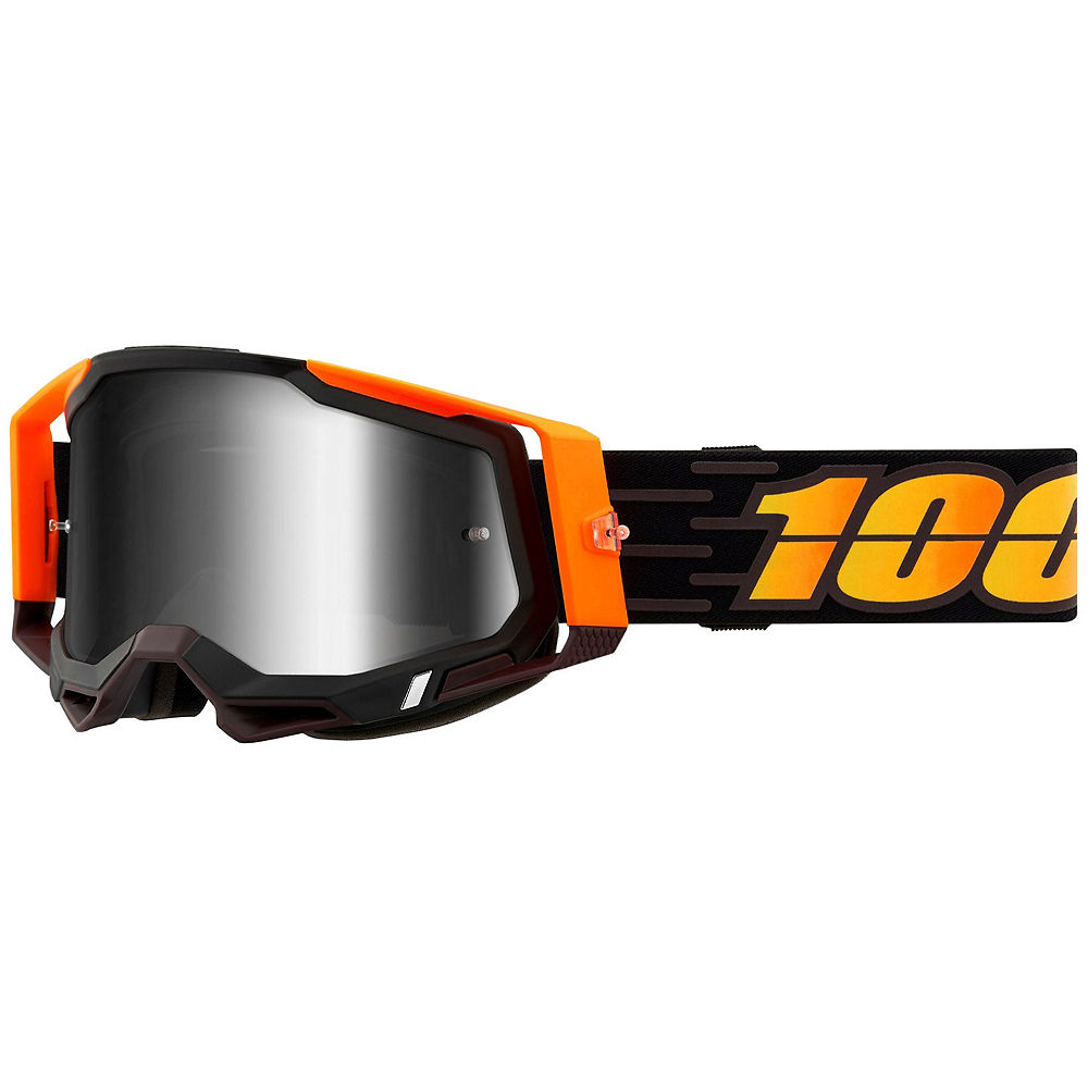 100% Racecraft 2 MTB Goggles - Orange Black, Orange Black