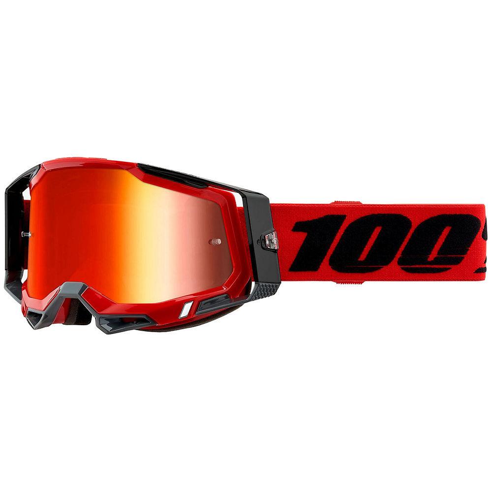 100% Racecraft 2 MTB Goggles - Red Grey, Red Grey