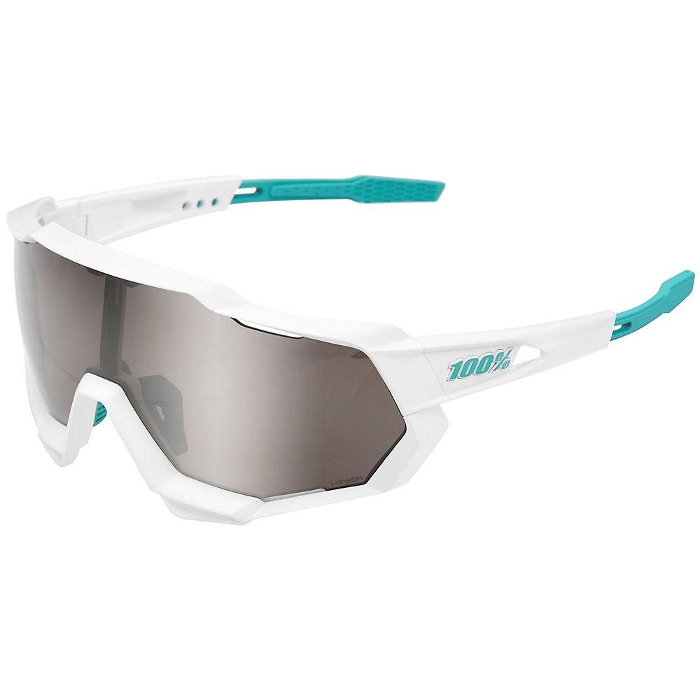 100% Speedtrap Bore Hand Grohe Sunglasses - White, White