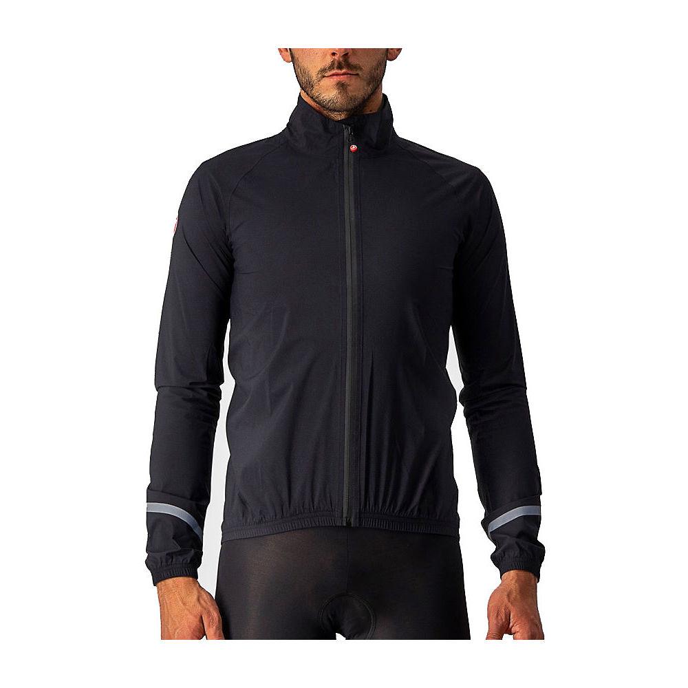 Image of Castelli Emergency 2 Rain Cycling Jacket - AW21 - Light Black / 2XLarge