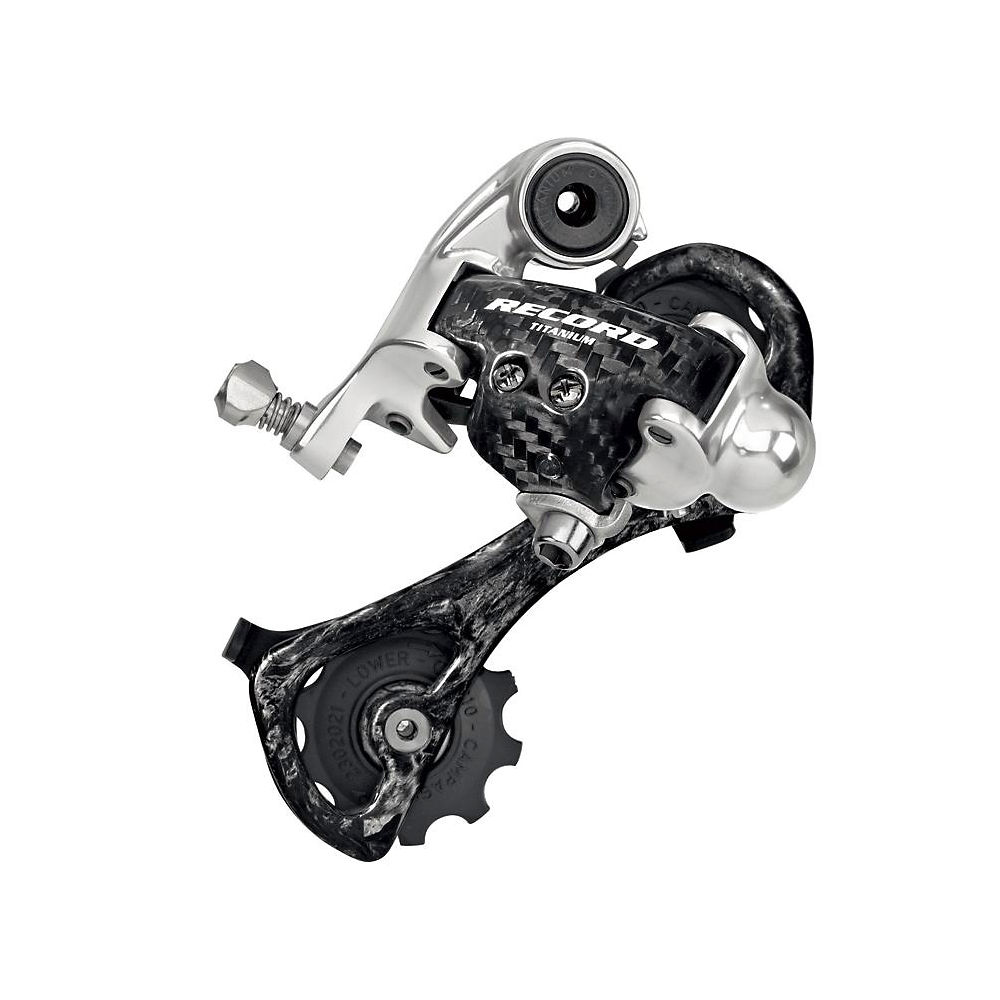 Campagnolo Record 10 Speed Rear Mech - Black - Silver - Short Cage, Black - Silver