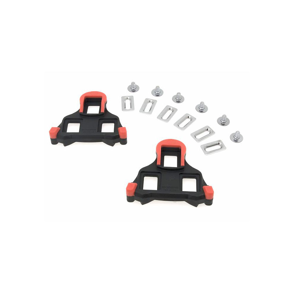 Shimano SH10 Cleats - Black - Red - For SPD-SL Road Racing Pedals - Fixed, Black - Red