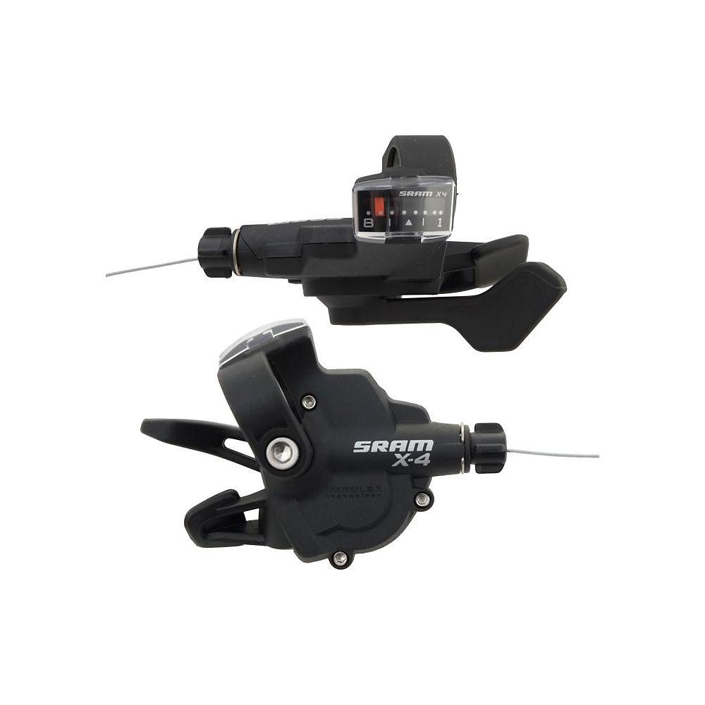 Sram X4 8 Speed Trigger Shifter Set - Black - Pair  Black