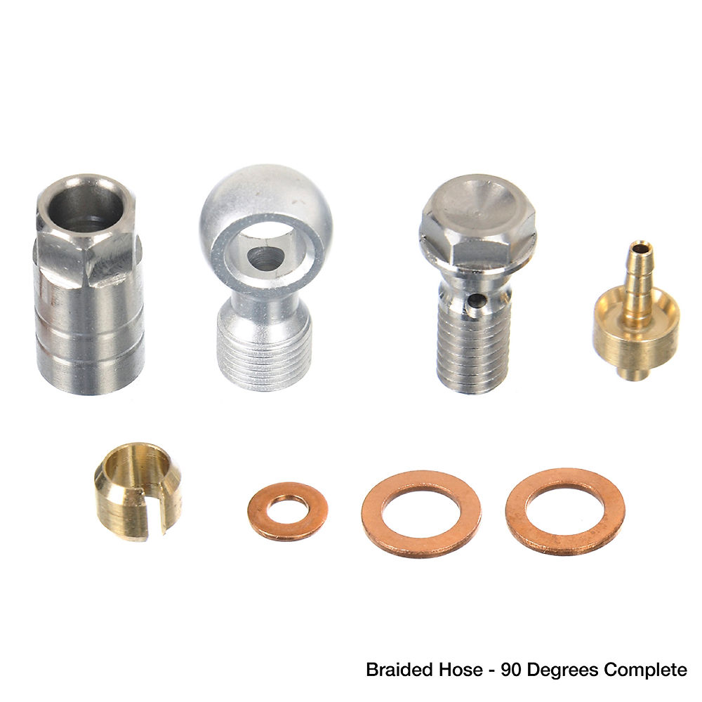 Hope Hose Connector - Braided Hose - 90 Degrees Complete