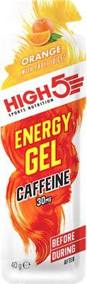 Geles energéticos de cafeína High5 Plus (38 gr x 20)