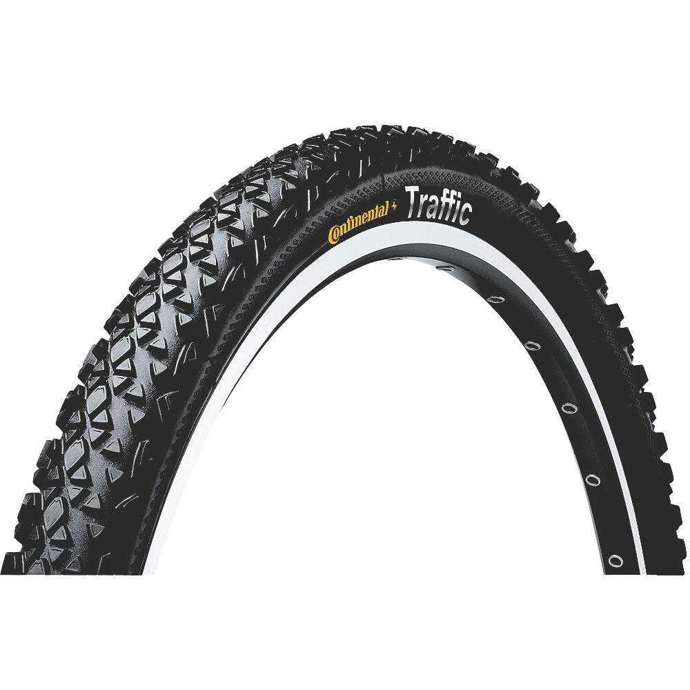 Continental Traffic II MTB Tyre - Black - Wire Bead, Black