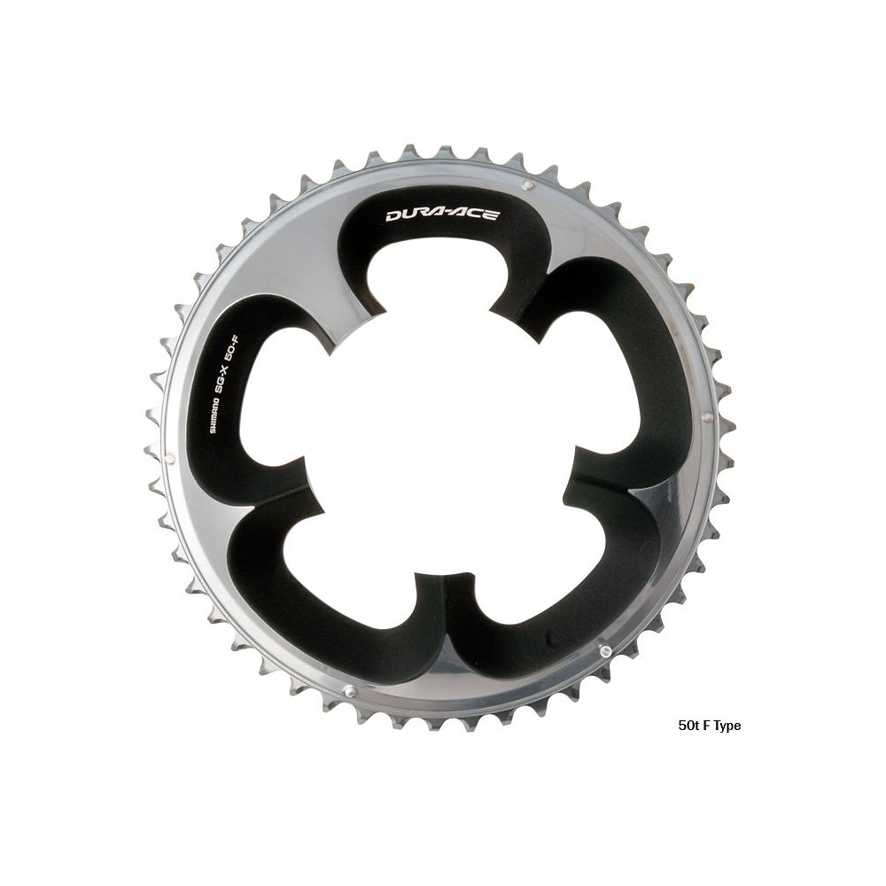 Shimano Dura-Ace FC7950 10sp Double Chainrings - Black - 110mm, Black