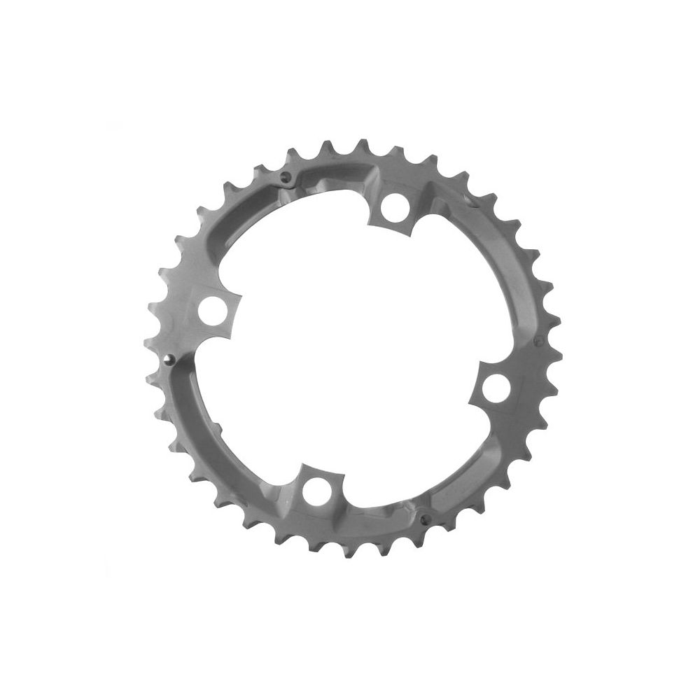 Shimano Deore FCM532 9 Speed Triple Chainrings - Silver - 4-Bolt, Silver
