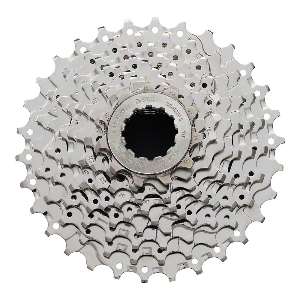 Shimano Sora HG50 9 Speed Road Cassette - Silver - 13-25t, Silver