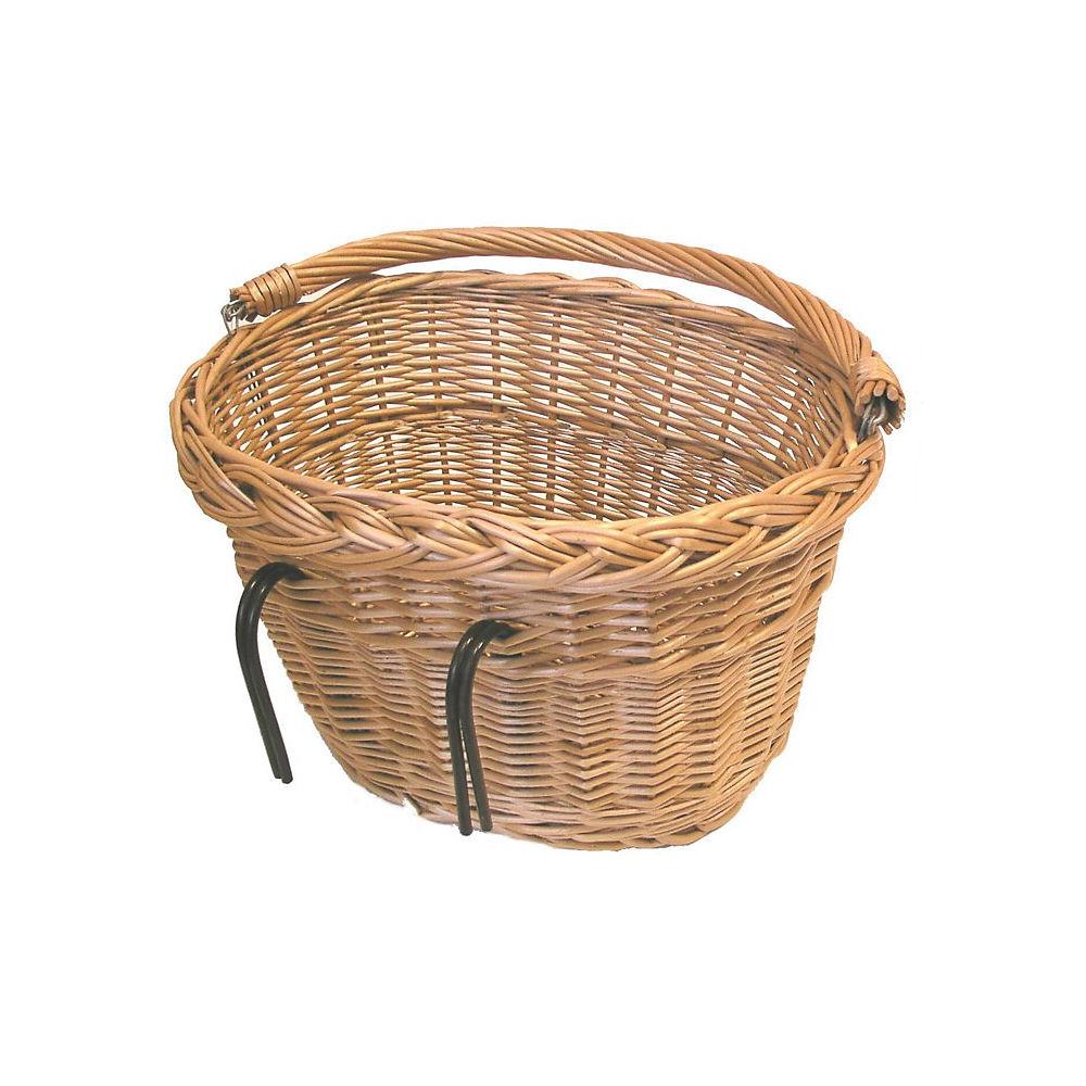 Image of Panier avant Basil ovale en osier - Marron, Marron