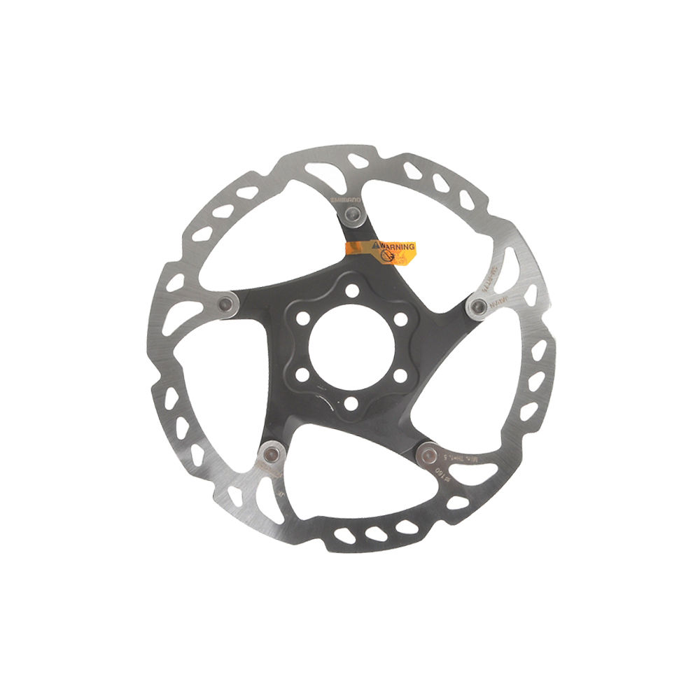Shimano RT76 Disc Rotor (6 Bolt) - Silver - 180mm, Silver