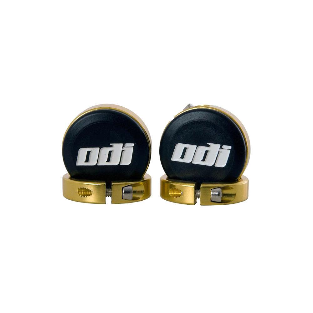 Tapones de manillar con abrazaderas con bloqueo ODI Lock-Jaw - Dorado - Pair, Dorado