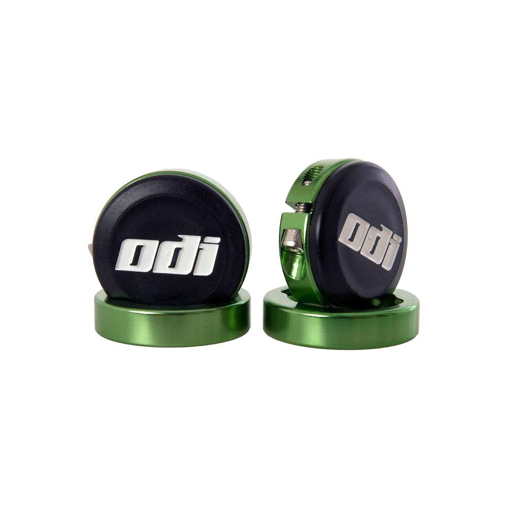 Tapones de manillar con abrazaderas con bloqueo ODI Lock-Jaw - Verde - Pair, Verde