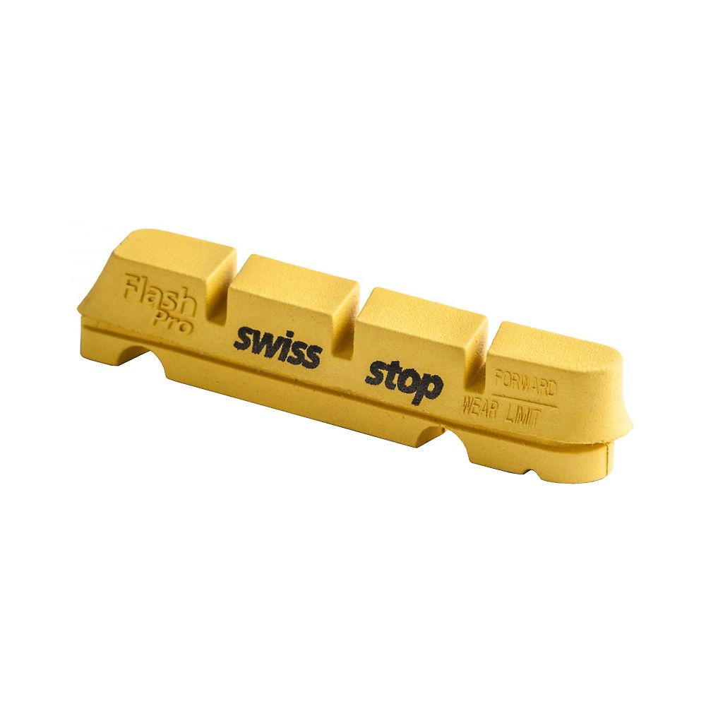Image of Patins de frein SwissStop Flash - Jaune Roi - 2x Pairs - Carbon Rim, Jaune Roi