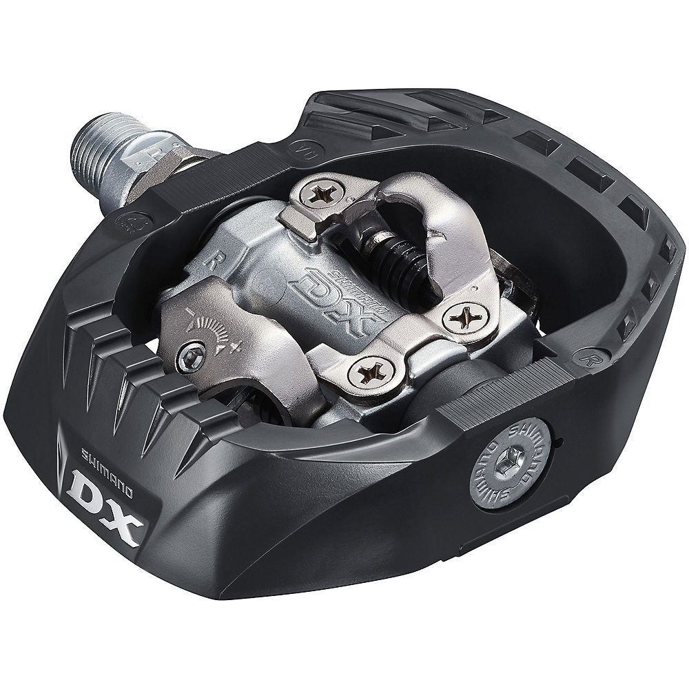Shimano M647 Clipless SPD MTB Pedals - Black, Black