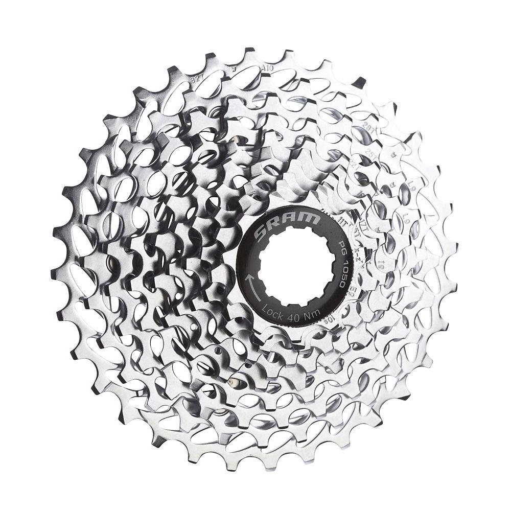 Sram Pg1050 10 Speed Mountain Bike Cassette - Silver - 11-32t  Silver