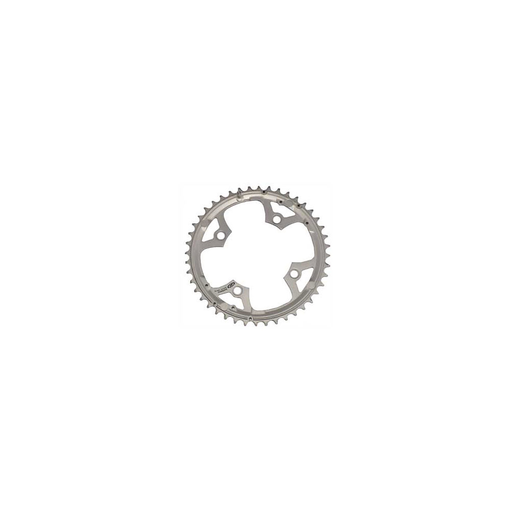 Shimano Deore FCM510 Triple Chainrings - Silver - 4-Bolt, Silver